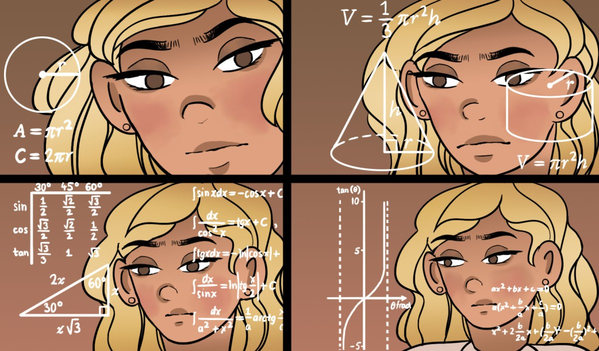 Math Lady Meme Comic
